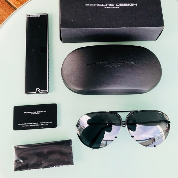 84bd773288 NWT Porsche 63mm P8478 D Dark Ruthenium Sunglasses. Boutique. Porsche Design